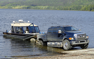 Boat Launch at The Narrows on Takla Lake - lakefront cabins for rent